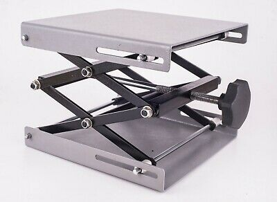 Laboratory Jack stand adjustable platform 200x200mm extends to 290mm