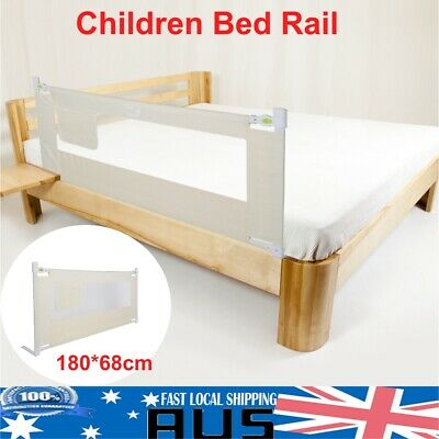 180cm White Safety Cot/Bed Rail Guard Protection for Baby Infant Toddler AU