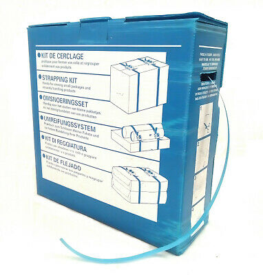 HAND PALLET STRAPPING & BUCKLE KIT IN A BOX - 12mm x 750m Strap + 250 Buckles