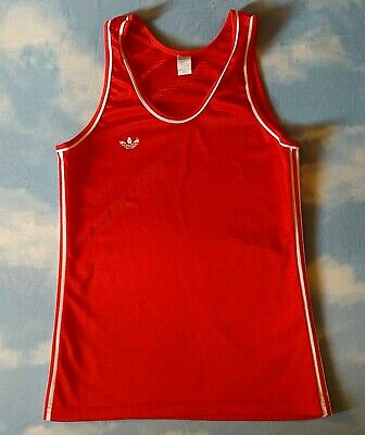 VEST canotta vintage 70's ADIDAS made in France tg. 4/5 -M  Rare