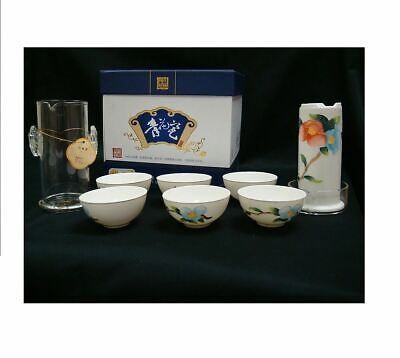 Bone China Porcelain Tea Set Chinese Hand Painted With Crystal Infuser