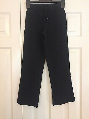 Girls Black Pe Jogging Bottoms Age 7-8 Years From George School