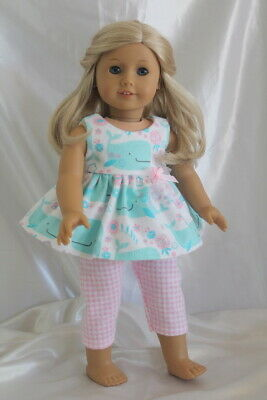 Dress Outfit fits 18 inch American Girl Doll Clothes Lot Whales Pink Gingham