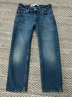 Levis 505 Youth Boys Jeans Sz 8 24x22 Regular Fit Medium Blue Wash Denim