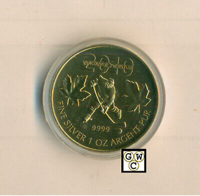 2010 Gold-Plated Olympic Hockey 1oz Silver Maple Leaf .9999 Fine Coin(12709)OOAK