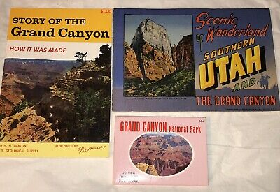 Lot Vintage Grand Canyon Ephemera Picture Pack Booklets 1950s 1960s Fred Harvey