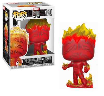 Funko POP! Marvel 80th Anniversary First Appearance Human Torch W/Pop Protector