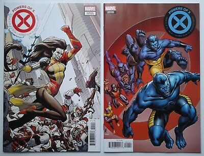 POWERS OF X #1 Weaver VARIANT + #2 Zircher VARIANT Hickman NM 1st prints