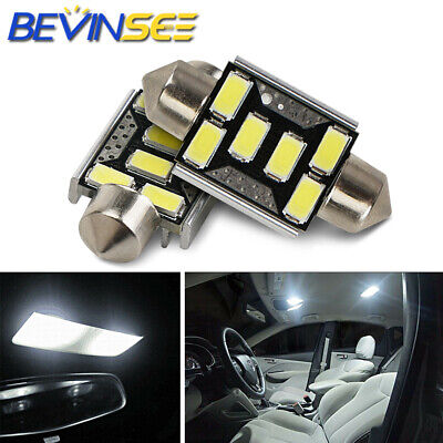 10x 36mm 6 SMD 5050 Pure White Dome Festoon CANBUS OBC Car 6 LED Light Bulb G8Y2