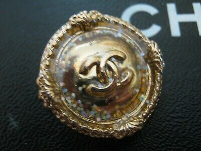 CHANEL 1 BUTTON GOLD 24 mm , BIGGER THAN 1 inch metal with  cc logo