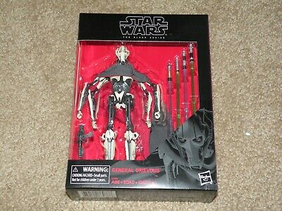 Star Wars Black Series 6 Inch 2019 D1 General Grievous ~ Sealed ~ Deluxe Figure!