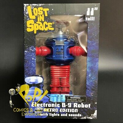 "LOST In SPACE B-9 Robot RETRO Version 11"" ELECTRONIC Figure Diamond Select NEW!"