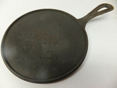 Antique Unmarked 8 1/2 inch cast iron Griddle w/ Gatemark CLEANED SEASONED