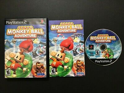Super Monkey Ball Adventure (Sony PlayStation 2, 2006) PS2 - Complete CIB