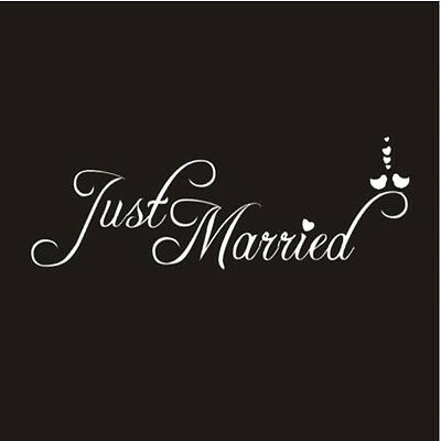 Just Married Wedding Car Window Banner Sticker Decal Vinyl Personalised