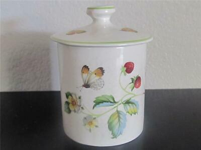 Vintage James Kent Old Foley Strawberry Mustard Jelly Jar with Butterflies