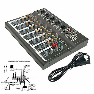 7 Channel Audio Mixer DJ-Mixer Mixing Console with USB slot for Live Studio