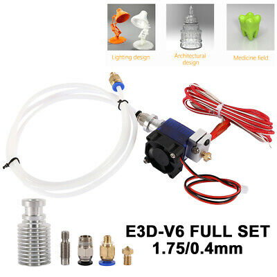 3D Printer Part Extruder Metal J-head Hotend Bowden Kits for 1.75mm/0.4mm E3D V6