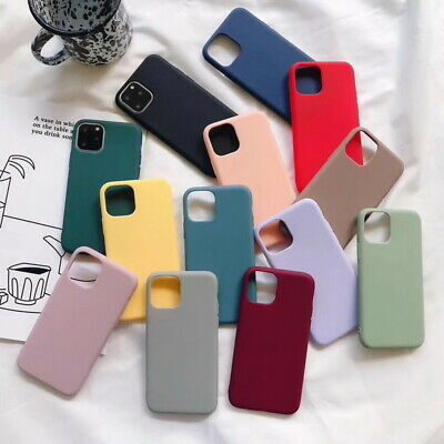 For iPhone XS Max XR X 8 7 6s 6 Plus Slim Candy Matte TPU Soft Rubber Case Cover