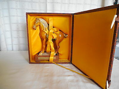 Chinese Tang san cai pottery, porcelain war horse gift from the ministry of Educ