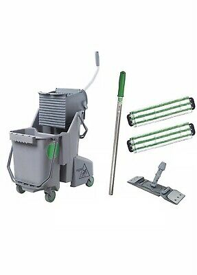 """UNGER CK047 Table Cleaning Kit,16""""L,Microfiber"""