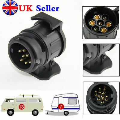 13 pin to 7 pin TRAILER/CARAVAN TOWBAR TOWING SOCKET ADAPTOR PLUG CONVERTER UK