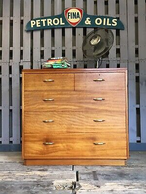 Remploy Ex Military Army Vintage Retro Teak Drawers Sideboard Mid Century Modern