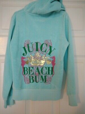 Juicy Couture Girls Hoodie Sweatpants Set Size 8 Blue