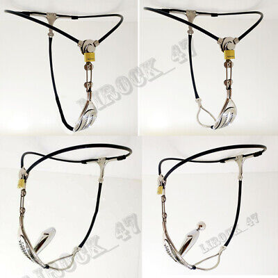 New Female Stainless Steel Invisible Thong Pants Chastity Belt Device Underwear