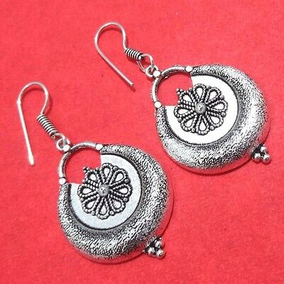 "925 SILVER PLATED HANDMADE Antique DROP / DANGLE EARRINGS 2.25 "" INCHES GL16"