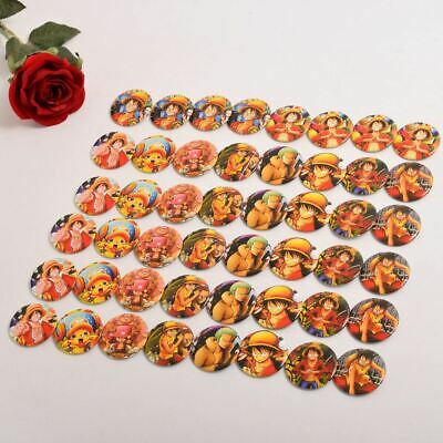 48Pcs/Set Badge Pins Anime Cosplay Props Anime One Piece Series Collection Set
