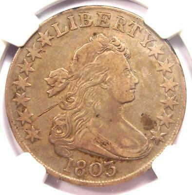 1803 Draped Bust Half Dollar 50C O-102a - NGC VF Details - Rare Certified Coin!