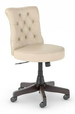 Mid Back Occasional Tufted Chair in Antique White [ID 3842176]