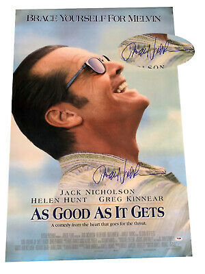 Jack Nicholson Signed Auto As Good As It Gets Fs Movie Poster Beckett Bas Coa
