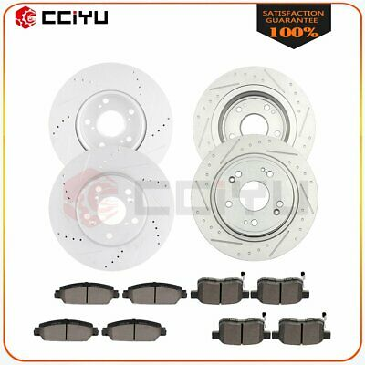 Ceramic Pads A1819 Front,Rear Eline Series OE Replacement Brake Rotors