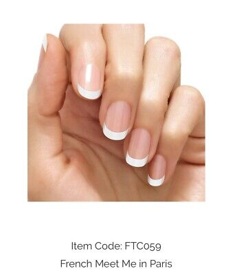 FRENCH MANICURE Color Street Nail Polish Strips French MEET ME In PARIS