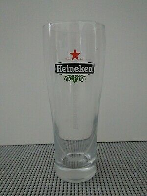 Heineken .25 Litre Beer Glass Clean Logo Design Laser Etched Bottom