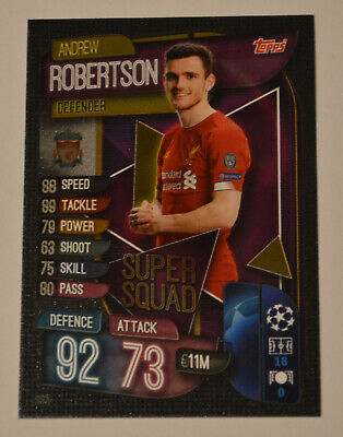 Topps MATCH ATTAX 2019/2020 / Super Squad > SS3 Andrew Robertson Liverpool FC