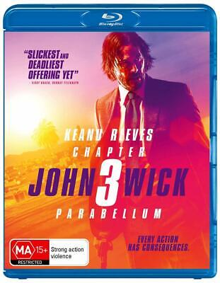 JOHN WICK: CHAPTER 3 - PARABELLUM (2019): Keanu Reeves -  NEW Au RgB BLU-RAY