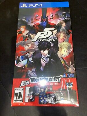 Persona 5: Take Your Heart Premium Edition (SONY PlayStation 4, 2017) New PS4
