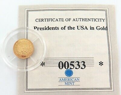 Presidents Of The Usa In Gold. 14K Proof. Barack Obama. 00533