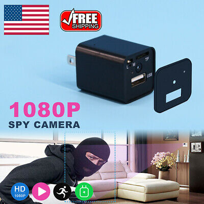 HD 1080P Spy Hidden Camera Wall Charger Adapter Video Security Cam