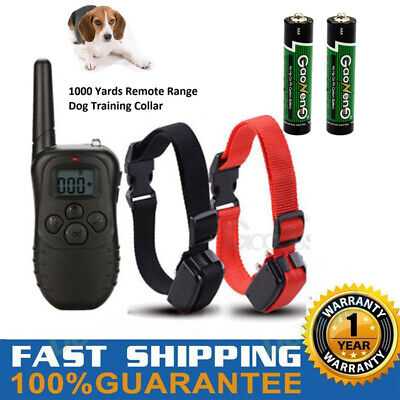 Dog Shock Collar With Remote Waterproof 4 Modes for Large 1000 Yard Pet Training