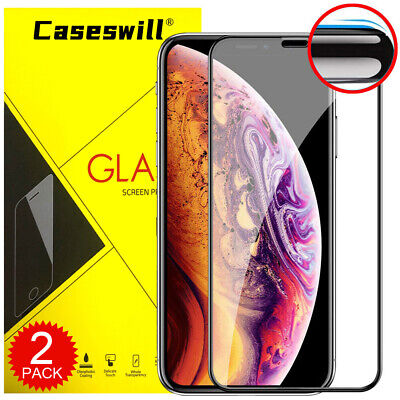 For iPhone 11 Pro X XR XS Max Caseswill Real 10D Tempered Glass Screen Protector