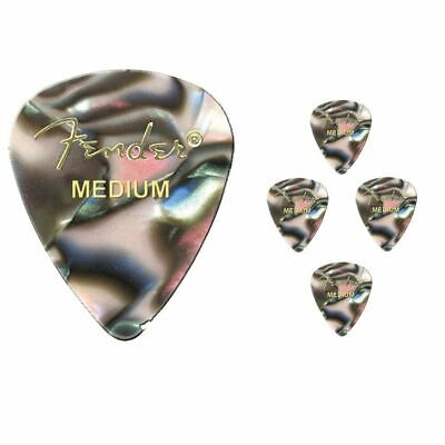 Fender Premium Colored Celluloid Guitar Picks 351 Abalone Medium - 5 Picks