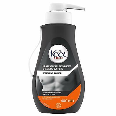 Veet Men Haarentfernungs-Creme Sensitive Power mit Spatel Enthaarungscreme 400ml