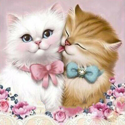 Lovely Cat 5D DIY Diamond Painting Embroidery Cross Crafts Stitch Home Art Decor