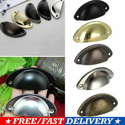 12PCS Retro Cupboard Door Cabinet Cup Drawer Furniture Antique Pull Shell Handle