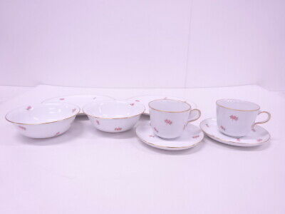 4328479: Japanese Porcelain Okura Toen Morning Table Ware / Set Of 2