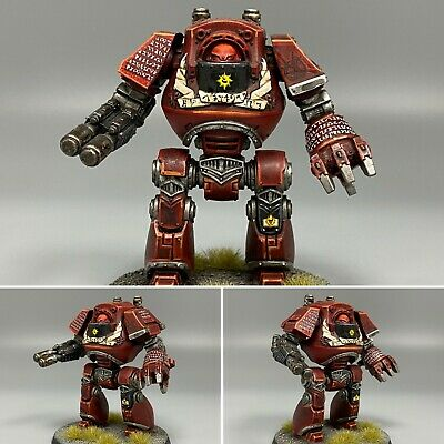 Warhammer 40,000 Chaos Space Marines Word Bearers Contemptor Dreadnought Painted